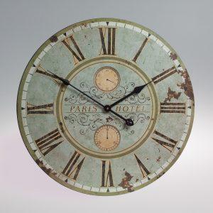 Large vintage style distressed verdigris looking wooden clock-0