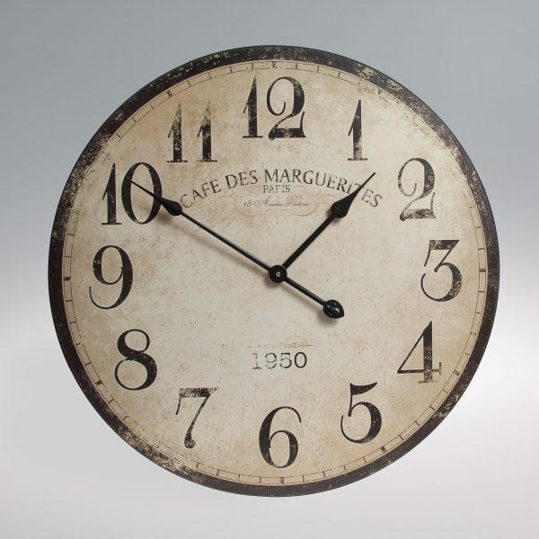 Large vintage distressed looking wooden clock-0