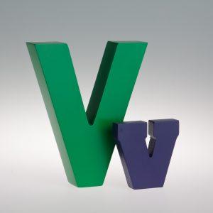 AlphaArt Letter V-0