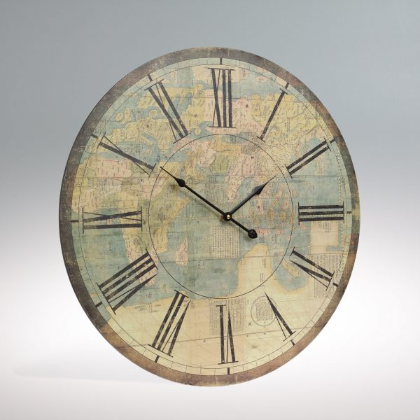 Large Cream Atlas Wall Clock-0