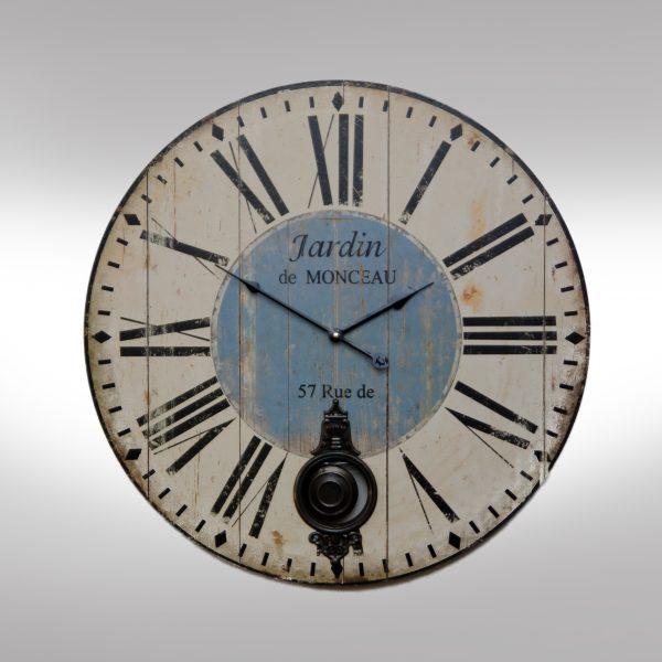 Wooden Pendulum Clock with Roman Numbers-0