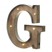 Light Up - Alphabet Metal and Wooden Light up Letter (Upper Case)-1270