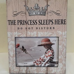 The Princess Sleeps Here photo frame-0