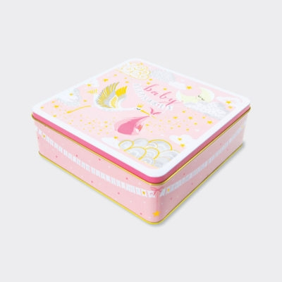 Large Keepsake Tin ‐ Baby Girl Keepsakes-0
