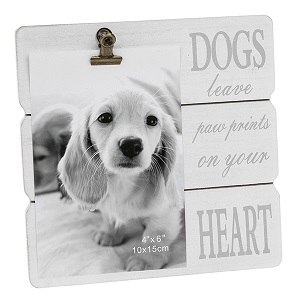 White Message Clip Frame - Dog-0