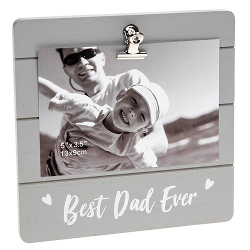Best Dad Ever Clip Picture Frame-0