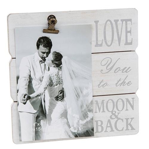 White Message Clip Frame - Love-0