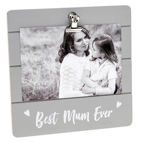 Best Mum Ever Clip Picture Frame-0