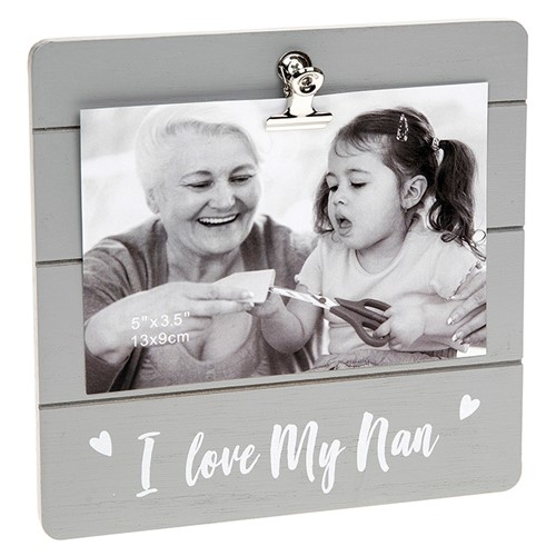 I Love My Nan Clip Picture Frame-0